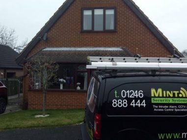 New home intruder alarm installation