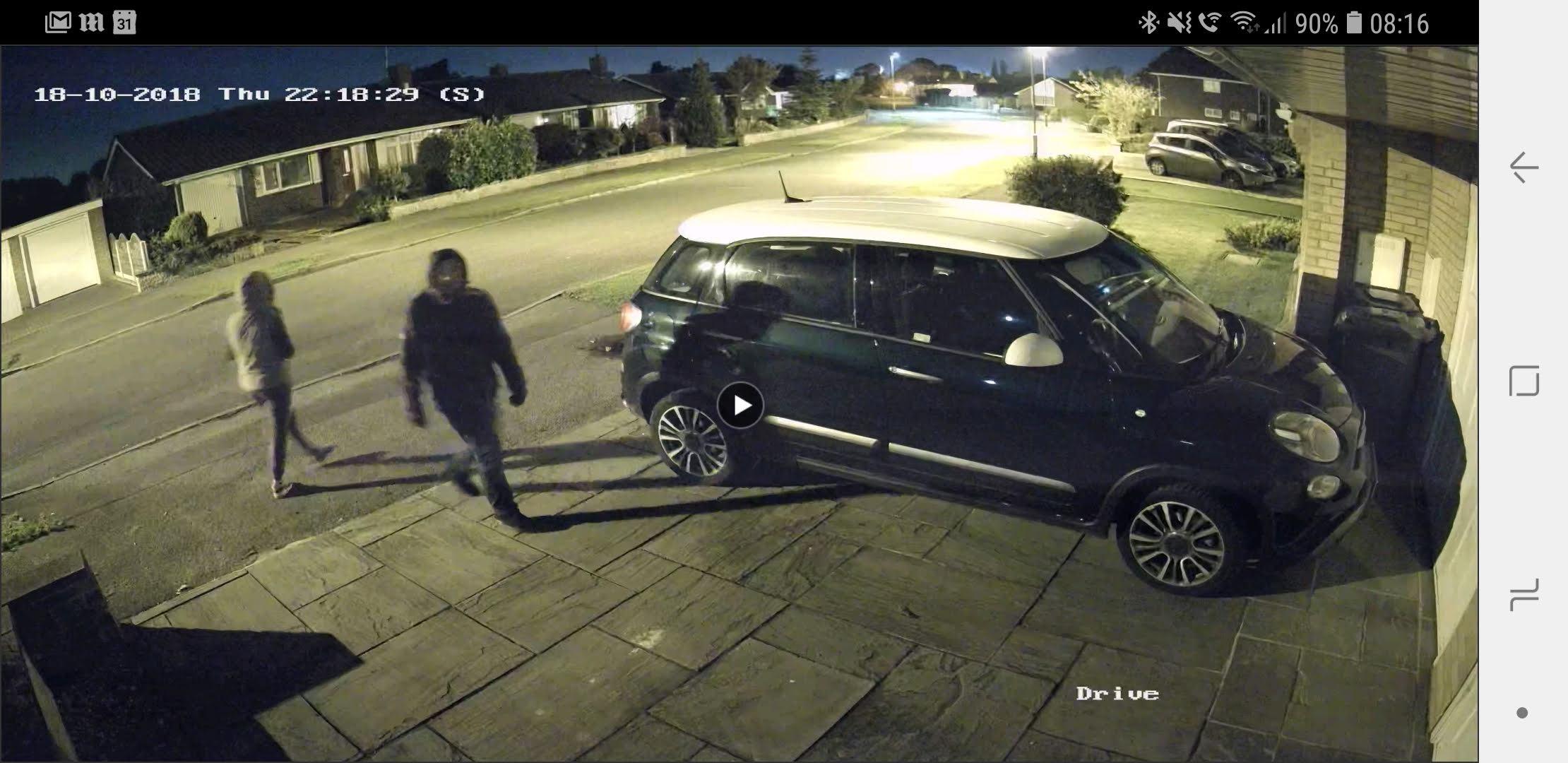 car theft CCTV